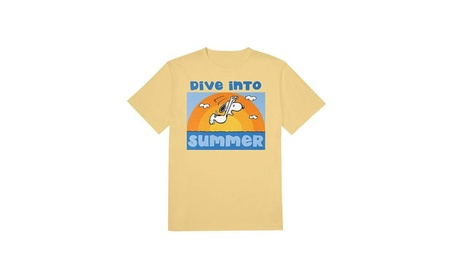 Huge Sportswear Snoopy Dive Into Summer Yellow T-Shirt