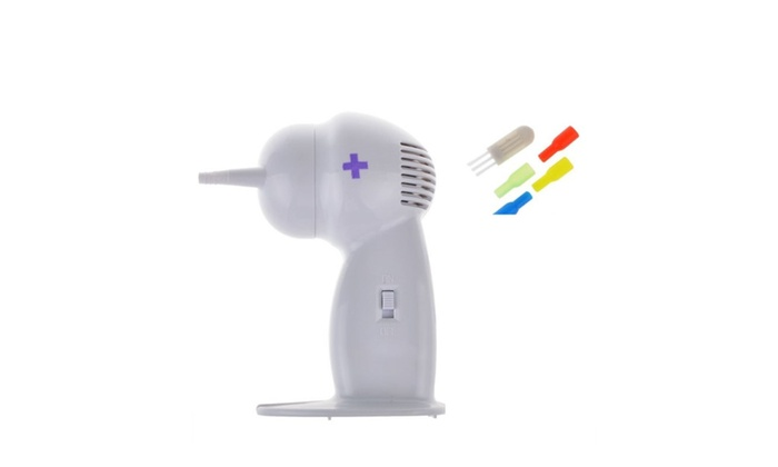Cordless Ear Vac Wax Remover Earwax Moisture Cleaner Plugged