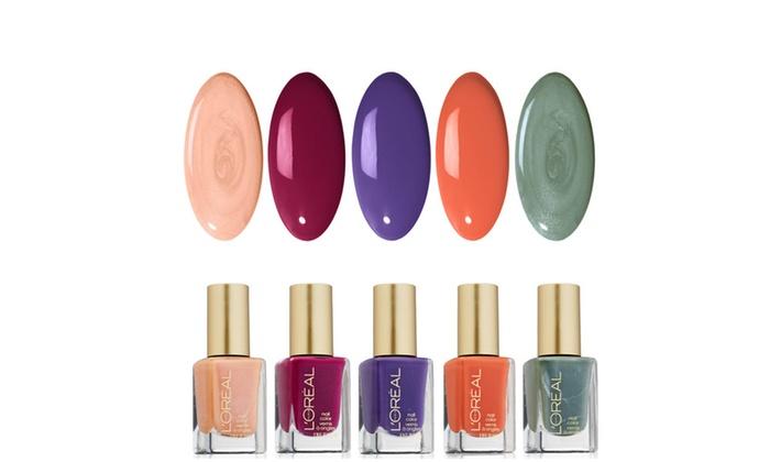 Groupon Goods: Loreal Paris Solid Color Nail Polish - 5 Pack