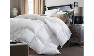 Kathy Ireland Essentials White Goose Feather and Down Comforter