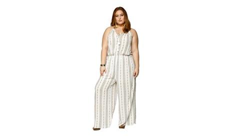 Xehar Womens Plus Size Sexy Sleeveless Halter Tassel Tie Jumpsuit ef145af5-8c0e-4ac8-bd69-95f51eb676d4