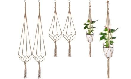 2pcs Macrame Plant Hangers Hanging Rope Planter Basket Flower Pot Holder