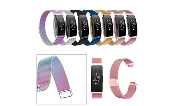 Milanese Stainless Steel Band Quick Release Wrist Strap For Fitbit Inspire HR