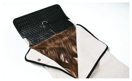 HairClutch- Patented Hair Extensions Storage Bag in Woven Black b2ccfa1b-9439-49d7-bc77-f395bec16785