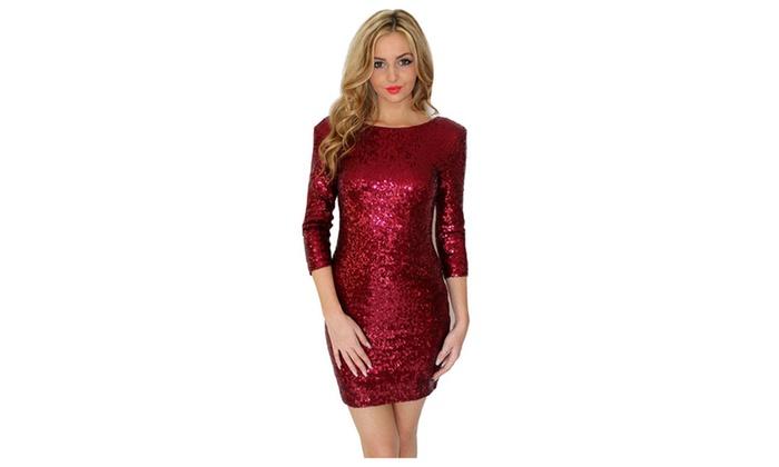 Women s sequin pencil skirt style sexy short party dress - ZWWD261 ... fba5661b4