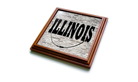 Trivet with TileIllinois. State Capital is Springfield. photo
