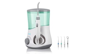 Pyle Oral Irrigator with 3 Nozzles and Tongue Scraper