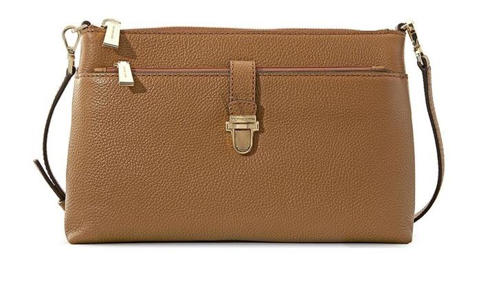 910086cdc694 Michael Kors Mercer Large Snap Pocket Crossbody Bag - Acorn | Groupon