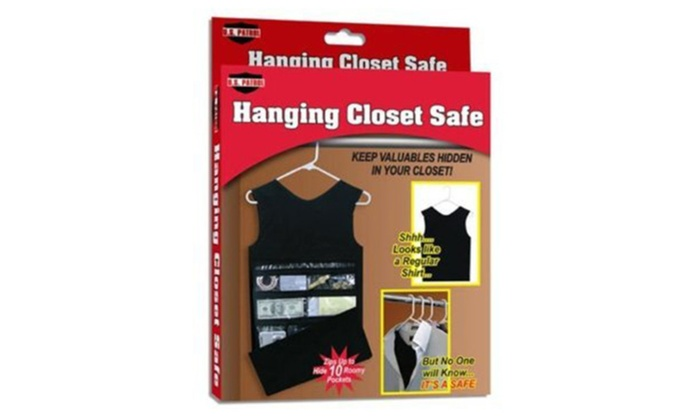 ... Zipped Tank Top Shaped Hanging Closet Safe Hidden Spy Organizer