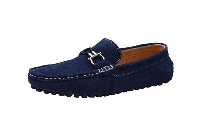 Men's Casual Driving Moccasin Loafer With Silver Ornament
