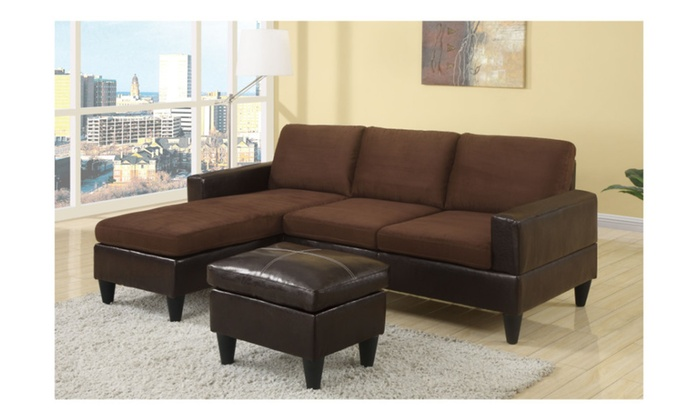 Prime Compact Sectional Sofa With Ottoman Machost Co Dining Chair Design Ideas Machostcouk