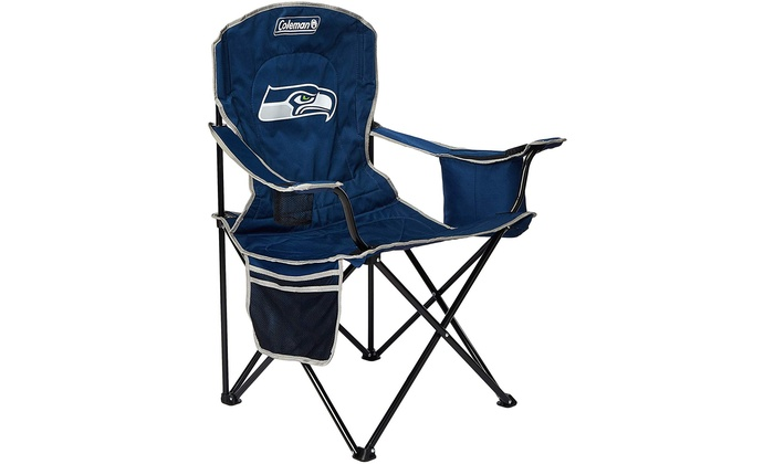 Admirable Coleman Nfl Cooler Quad Folding Tailgating Camping Chair Seattle Seahawks Lamtechconsult Wood Chair Design Ideas Lamtechconsultcom