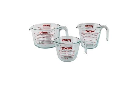 Pyrex 3-Piece Glass Measuring Cup Set d6753744-e106-461d-a22c-28955167f07a
