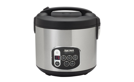 Aroma 20 Cup (Cooked) Digital Rice Cooker Stainless Steel Exterior a4a60189-8fcf-4542-b0f1-b63dec1d29cc