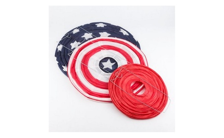 4th of July Red, White and Blue Round Paper Lanterns d9d399be-c54d-4771-8ddc-3bf93aba6ba2