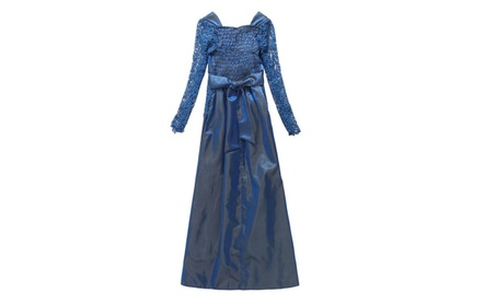 Women-Silk-Loose-Skirt-Lace-Top-Dress-Blue-Lace-STWD530 - Blue / Large adee0c9e-cefc-4809-960e-f7709cf6e29b