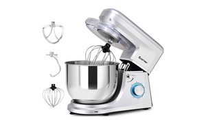 Costway Electric Food Stand Mixer 6 Speed 7.5Qt660W Tilt-HeadStainless