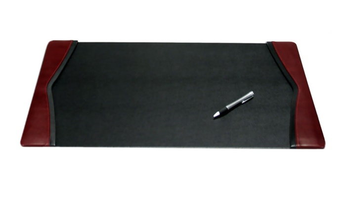 Daco Burgundy Leather 25 5 X 17 Side Rail Desk Pad