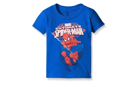 Marvel Boys' Toddler Ultimate Spiderman Swinging Short Sleeve T-shirt 5fa48782-a02b-482b-aef0-925f43c735bc