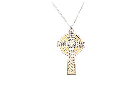 Irish Cross Pendant with Chain sterling silver 70552529-e009-49f1-a3c2-5ab0627733b3