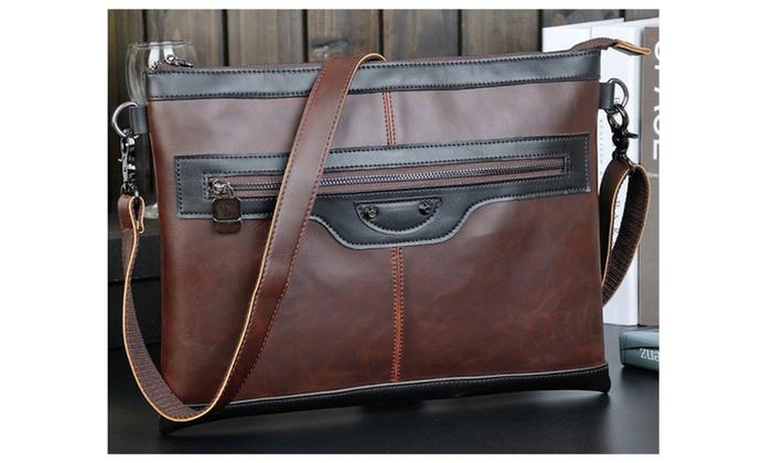 Men Shoulder Bag Classic Cowhide Crossbody Bag