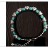 Bohemia Stylish Noble Heart Turquoise Beads Charming Handmade Bracelet
