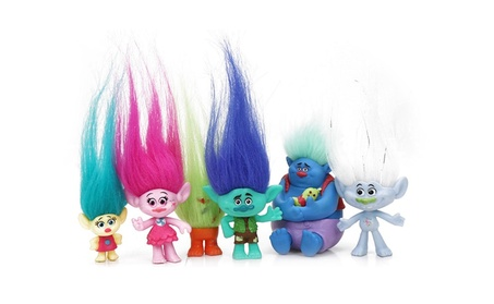 5Pcs Cartoon Magic Hair Troll Dolls Movie Figures Toys Sets 03716a23-2a59-4a29-ae8e-5ec2471f32f1