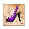 Roderick Stevens Suede Heel Purple Canvas Print