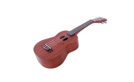 "21""Sapele Wood Soprano Ukulele 4 Strings Hawaiian Guitar Smile Pattern 64710522-87e4-4d03-a090-d52a26502bdc"