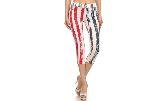 Stripe American Flag Capri