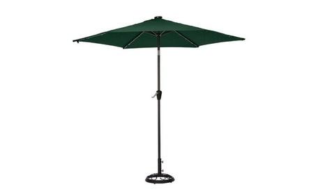 Living Accents UMS90BKOBD-01 9 ft. Green Solar Market Umbrella 323a744e-ce2f-4109-8732-b6d40285742c