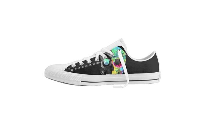 3d Skull Baseball Unisex Classic Canvas Shoes Fashion Sneaker