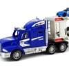City Police Transporter Trailer 1:32 Kid's Friction Truck RTR (Colors May Vary)