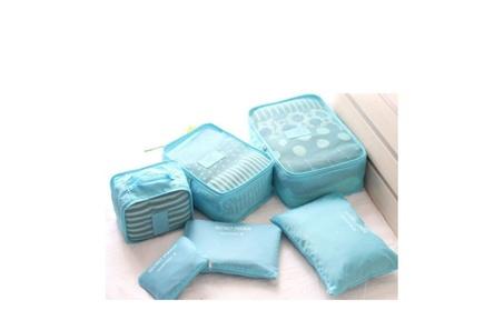 6 Piece Travel Storage Bags Luggage Organizer 3aaf42a5-dafe-47df-8a61-ff25b2f8a00e