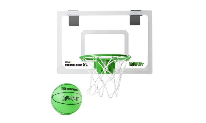SKLZ Pro Mini Hoop Midnight XL-Glow-In-The-Dark Hoop/Ball