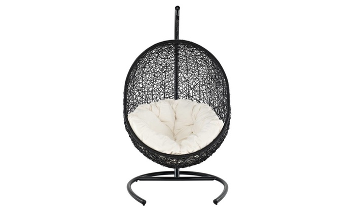 Delicieux Wicker Hanging Egg Chair With Cushion And Stand ...