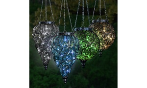 Solar Hanging Glass Lantern