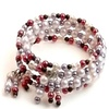 Sterling Silver Beaded Earrings And Stretch Bracelet