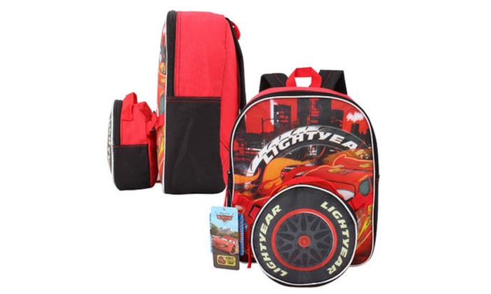 "Pixar Cars Mini Backpack with Lunch Bag - 12.5""H"