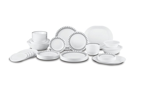 Corelle City Block Dinnerware Set (74-Piece, Service for 12)