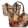 Zodaca Jacquard Fabric Shoulder Bag Brown