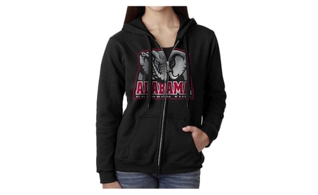 Women University Of Alabama +Elephant Hoodie Sweatshirt Black 5e209e04-d4d9-4f6d-b763-0c070689e06d