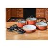 Cuisinart 10 Piece Cookware Set Orange