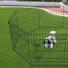 "24""36""42""48"" Folding Wire Fence Play Pen Dog Crate w/Door 8 Pen"