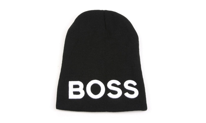 "Unisex Warm Acrylic ""BOSS"" Beanie Skull Hat 352HB"