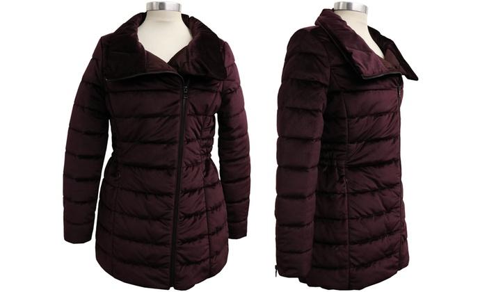 2692922b346 Plus Sizes Available. Women s Velvet Puffer Jacket