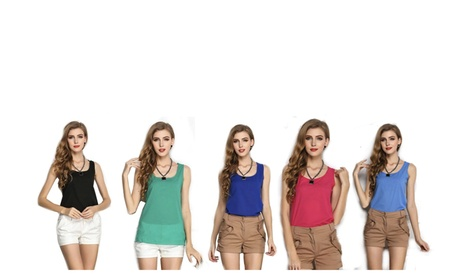 Summer Chiffon Vest Tops Tank Sleeveless Casual Shirt Blouse for Women 9230b3c4-be99-4b20-a802-a249aac6aec3