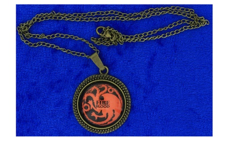 Fire and Blood Dragon Necklace Targaryen Game of Thrones 6f8739a9-e723-47b8-bfac-0e9b50748d06