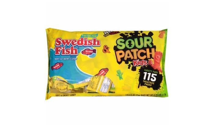 Sour patch kids seasonal swedish fish bag pound for Sour swedish fish