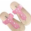 Girls Cork Sole Slip Slide Sandal Beach Thong